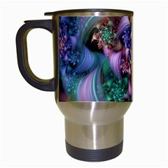 Bright Taffy Spiral Travel Mugs (white) by WolfepawFractals