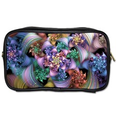 Bright Taffy Spiral Toiletries Bags by WolfepawFractals