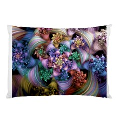 Bright Taffy Spiral Pillow Case (two Sides) by WolfepawFractals