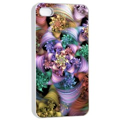 Bright Taffy Spiral Apple Iphone 4/4s Seamless Case (white) by WolfepawFractals