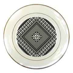 Geometric Pattern Vector Illustration Myxk9m   Porcelain Plates by dsgbrand