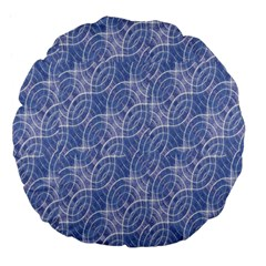 Modern Abstract Geometric Large 18  Premium Flano Round Cushions by dflcprints