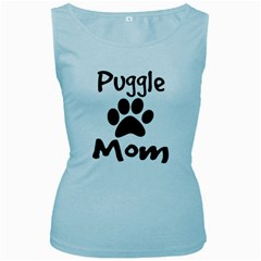 Puggle Mom Women s Baby Blue Tank Top