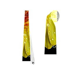 Yellow Flower Close Up Neckties (two Side)  by MichaelMoriartyPhotography