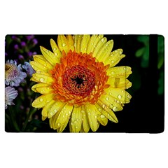 Yellow Flower Close Up Apple Ipad 3/4 Flip Case by MichaelMoriartyPhotography