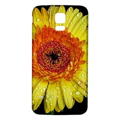 Yellow Flower Close Up Samsung Galaxy S5 Back Case (white) by MichaelMoriartyPhotography