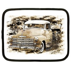 Vintage Chevrolet Pick Up Truck Netbook Case (xxl)  by MichaelMoriartyPhotography