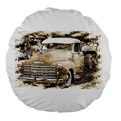 Vintage Chevrolet Pick Up Truck Large 18  Premium Flano Round Cushions