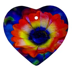 Tie Dye Flower Ornament (heart)  by MichaelMoriartyPhotography