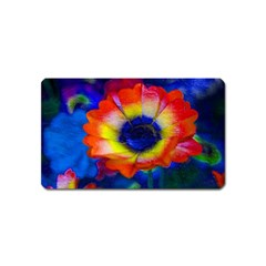 Tie Dye Flower Magnet (name Card) by MichaelMoriartyPhotography