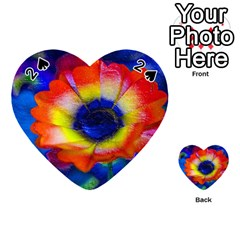Tie Dye Flower Playing Cards 54 (heart)  by MichaelMoriartyPhotography