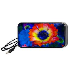 Tie Dye Flower Portable Speaker (black)  by MichaelMoriartyPhotography