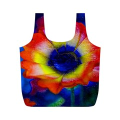 Tie Dye Flower Full Print Recycle Bags (m)  by MichaelMoriartyPhotography