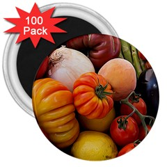 Heirloom Tomatoes 3  Magnets (100 Pack) by MichaelMoriartyPhotography