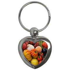 Heirloom Tomatoes Key Chains (heart)  by MichaelMoriartyPhotography