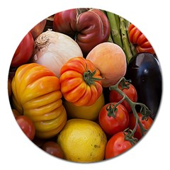 Heirloom Tomatoes Magnet 5  (round) by MichaelMoriartyPhotography