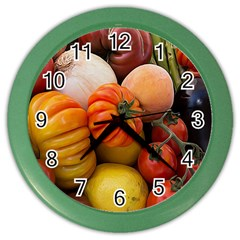 Heirloom Tomatoes Color Wall Clocks by MichaelMoriartyPhotography