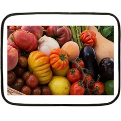 Heirloom Tomatoes Double Sided Fleece Blanket (mini)  by MichaelMoriartyPhotography