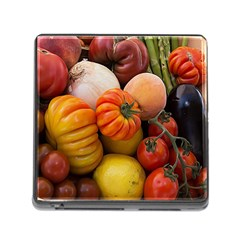 Heirloom Tomatoes Memory Card Reader (square) by MichaelMoriartyPhotography