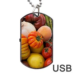 Heirloom Tomatoes Dog Tag Usb Flash (two Sides)  by MichaelMoriartyPhotography