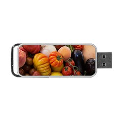Heirloom Tomatoes Portable Usb Flash (two Sides) by MichaelMoriartyPhotography
