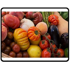 Heirloom Tomatoes Double Sided Fleece Blanket (medium)  by MichaelMoriartyPhotography
