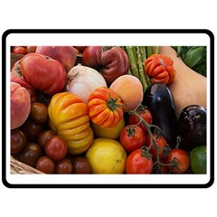 Heirloom Tomatoes Double Sided Fleece Blanket (large)  by MichaelMoriartyPhotography
