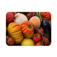 Heirloom Tomatoes Double Sided Flano Blanket (mini)  by MichaelMoriartyPhotography