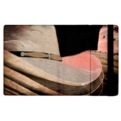 Straw Hats Apple Ipad 2 Flip Case by MichaelMoriartyPhotography