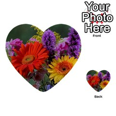 Colorful Flowers Multi-purpose Cards (heart)  by MichaelMoriartyPhotography
