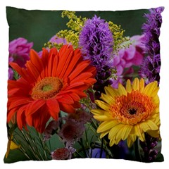 Colorful Flowers Large Cushion Case (one Side) by MichaelMoriartyPhotography