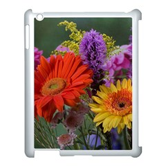 Colorful Flowers Apple Ipad 3/4 Case (white) by MichaelMoriartyPhotography
