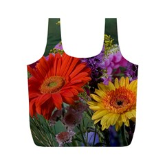 Colorful Flowers Full Print Recycle Bags (m)  by MichaelMoriartyPhotography