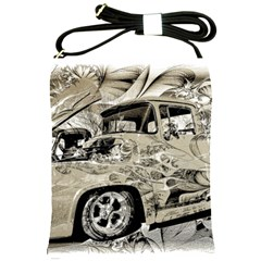 Old Ford Pick Up Truck  Shoulder Sling Bags by MichaelMoriartyPhotography