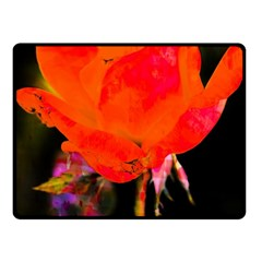 Red Beauty Fleece Blanket (small) by MichaelMoriartyPhotography