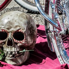 Skull And Bike Magic Photo Cubes by MichaelMoriartyPhotography