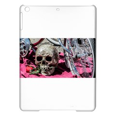Skull And Bike Ipad Air Hardshell Cases by MichaelMoriartyPhotography