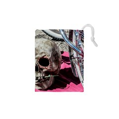 Skull And Bike Drawstring Pouches (xs)