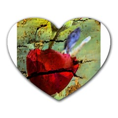 Rusty Globe Mallow Flower Heart Mousepads by MichaelMoriartyPhotography