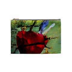 Rusty Globe Mallow Flower Cosmetic Bag (medium)  by MichaelMoriartyPhotography