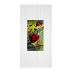 Rusty Globe Mallow Flower Shower Curtain 36  X 72  (stall)  by MichaelMoriartyPhotography