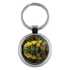 Cactus Flowers With Reflection Pool Key Chains (round)  by MichaelMoriartyPhotography