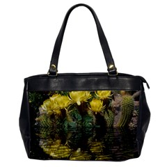 Cactus Flowers With Reflection Pool Office Handbags