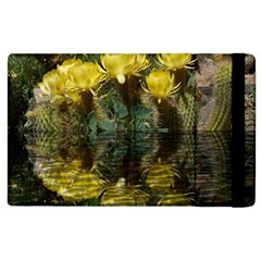 Cactus Flowers With Reflection Pool Apple Ipad 3/4 Flip Case by MichaelMoriartyPhotography