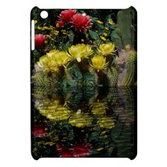 Cactus Flowers With Reflection Pool Apple Ipad Mini Hardshell Case by MichaelMoriartyPhotography