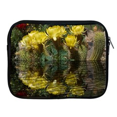 Cactus Flowers With Reflection Pool Apple Ipad 2/3/4 Zipper Cases by MichaelMoriartyPhotography