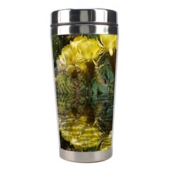 Cactus Flowers With Reflection Pool Stainless Steel Travel Tumblers by MichaelMoriartyPhotography