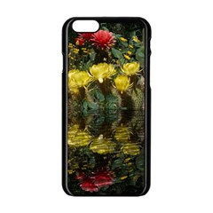 Cactus Flowers With Reflection Pool Apple Iphone 6/6s Black Enamel Case by MichaelMoriartyPhotography
