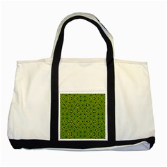 Geometric African Print Two Tone Tote Bag by dflcprints