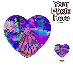 Psychedelic Butterfly Multi Purpose Cards (heart)  by MichaelMoriartyPhotography